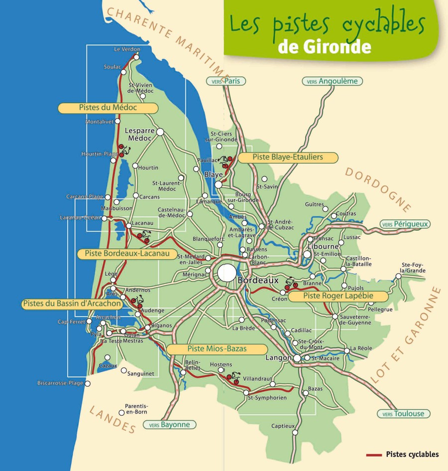 Carte pistes cyclables 1